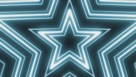Neon light lines with star shape