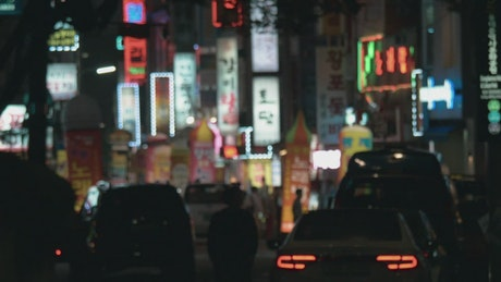 Neon lights and signs in Korea