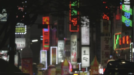 Neon signs throughout South Korea