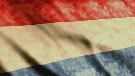 Netherlands flag waving by the wind