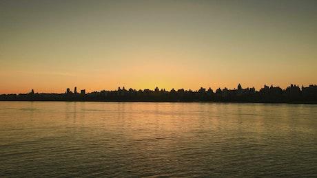 New York City at sunrise