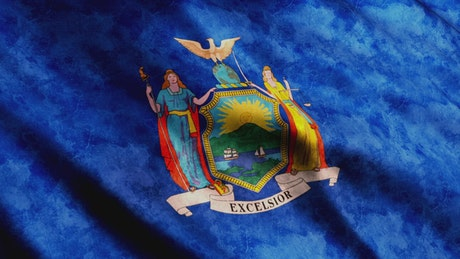 New York State faded flag