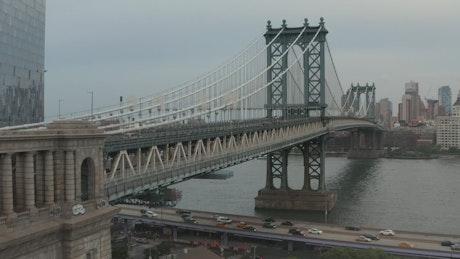 New York vehicular bridge, aerial view