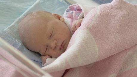 Newborn baby sleeping quietly