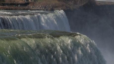 Niagara waterfalls and tourists