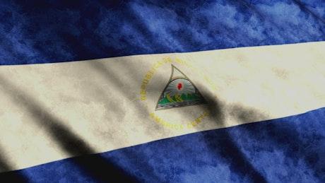 Nicaragua flag, 3D