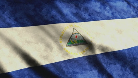 Nicaragua flag from American continent