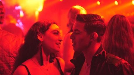 Night club dancing