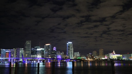 Night lights across Miami