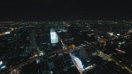 Night lights throughout Bangkok