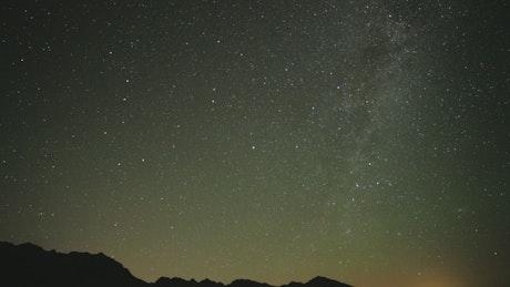 Night sky full of stars rotating