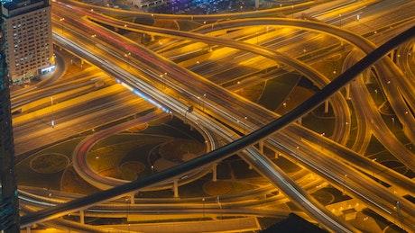 Night traffic highwat junction