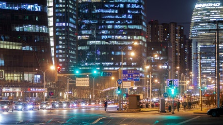 Night urban life in a Chinese city