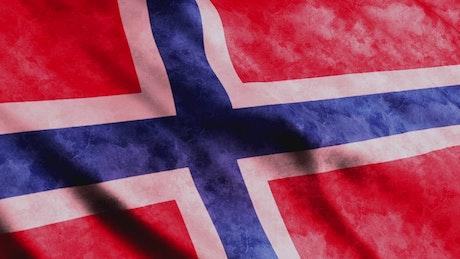 Norway flag, 3D render