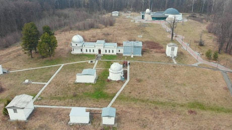 Observatory complex in the woods