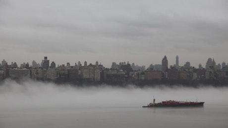 Ocean fog rolling in