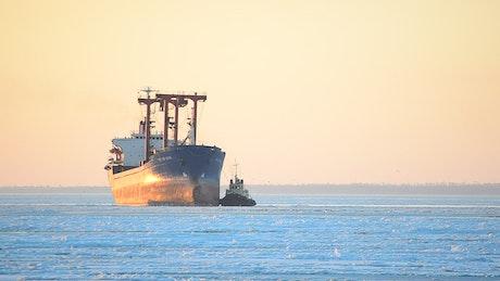 Ocean liner cargo ship