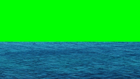 Ocean waters with a green screen in the background