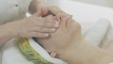 Oil face treatment at a Beauty Salon