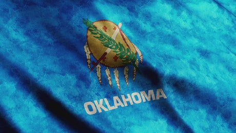 Oklahoma State waving flag