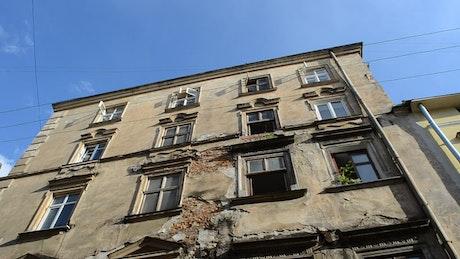 Old building with broken walls