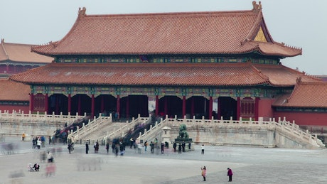 Old Chinese construction visited by tourists