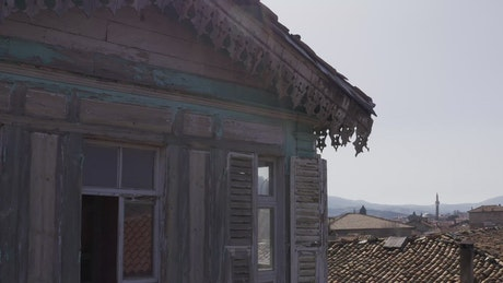 Old houses in a village