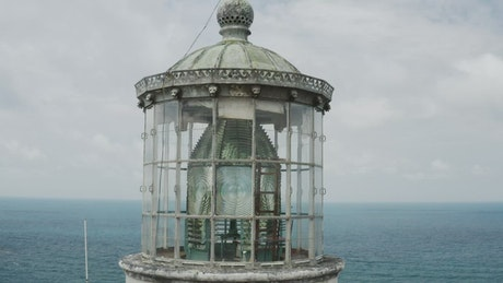 Old lighthouse roof