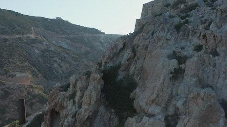 Old mine on a rocky mountain