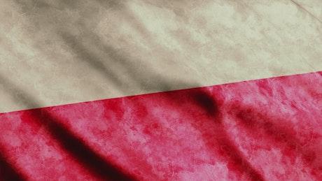 Old Polish flag waving