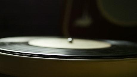 Old spinning vinyl