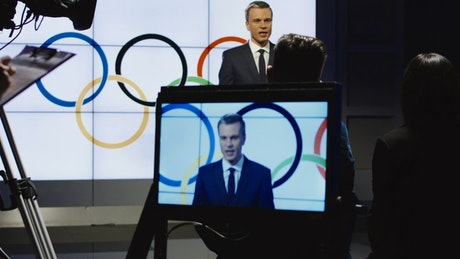 Olympics spokesman in a television show