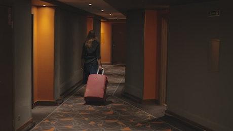 Opening a hotel room door
