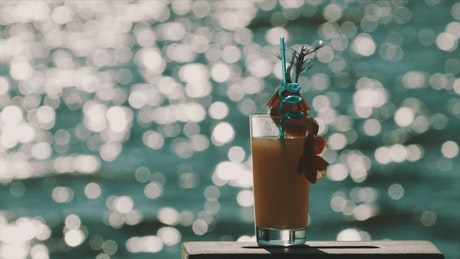 Orange cocktail with decorations