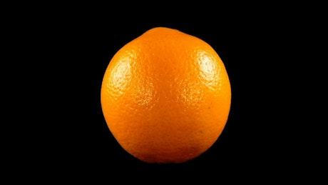 Orange on black background
