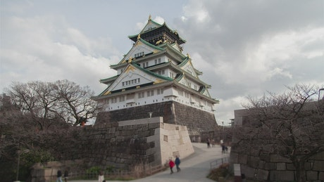 Osaka ancient samurai castle