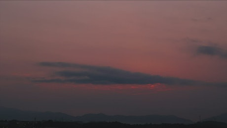 Overcast morning as the sun rises