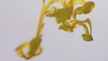 Paint swirling underwater