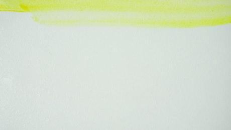 Painter doing a watercolor artwork