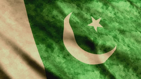 Pakistan faded waving 3D flag