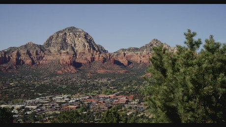 Panoramic view from the top of Sedona