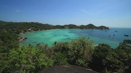 Panoramic view of a paradisiacal beach