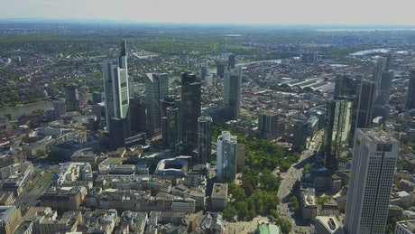Panoramic view of Frankfurt and its buildings