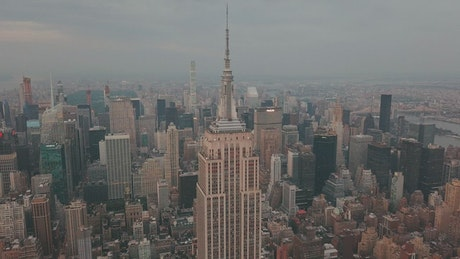 Panoramic view of the Empire State Building