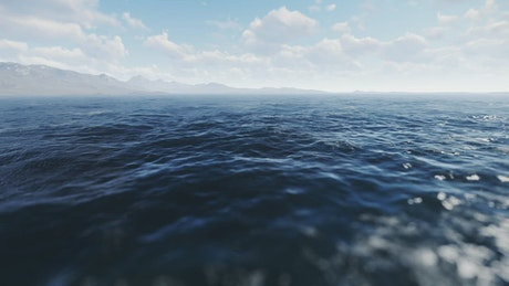 Panoramic view of the sea surface