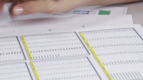 Paperwork with a calculator