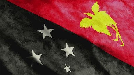Papua New Guinea 3D flag