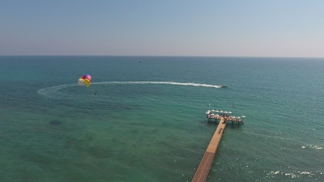 Parachuting in the tropical sea