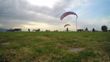 Parachuting practice