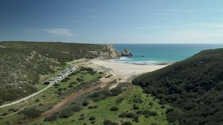 Paradise beach aerial view